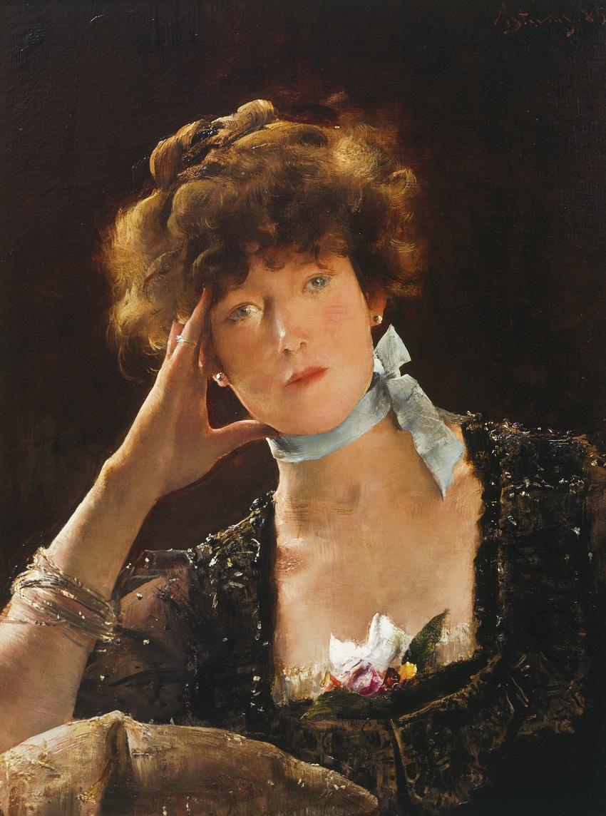 Portrait of Sarah Bernhardt (1885). Alfred Stevens