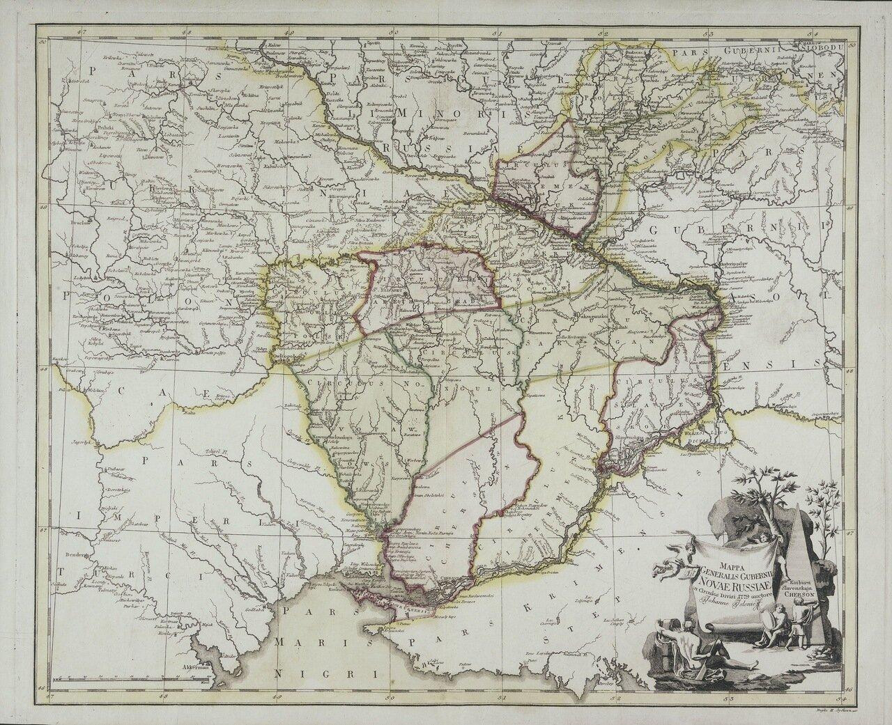 1779. Карта Новороссии