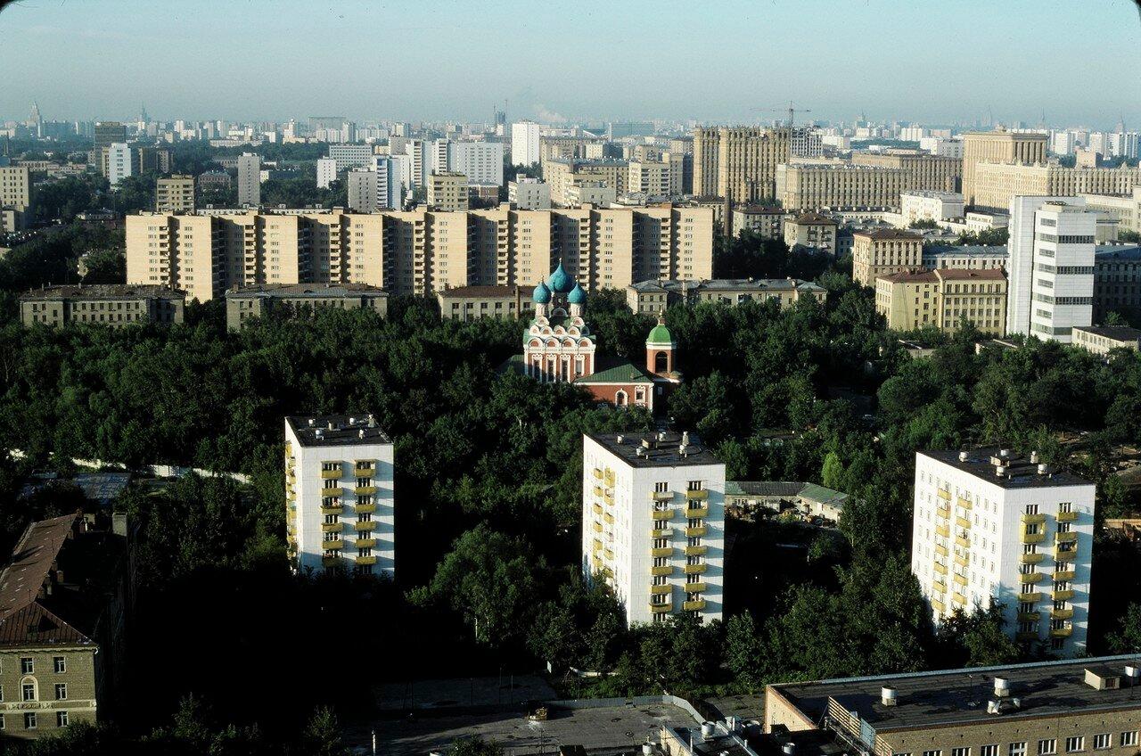 Панорама Москвы с 26 этажа гостиницы Космос