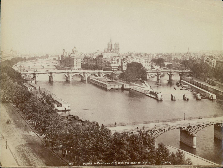 1889. Панорама острова Сите из Лувра