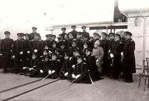 Колчак и Николай II среди высших флотских начальников
