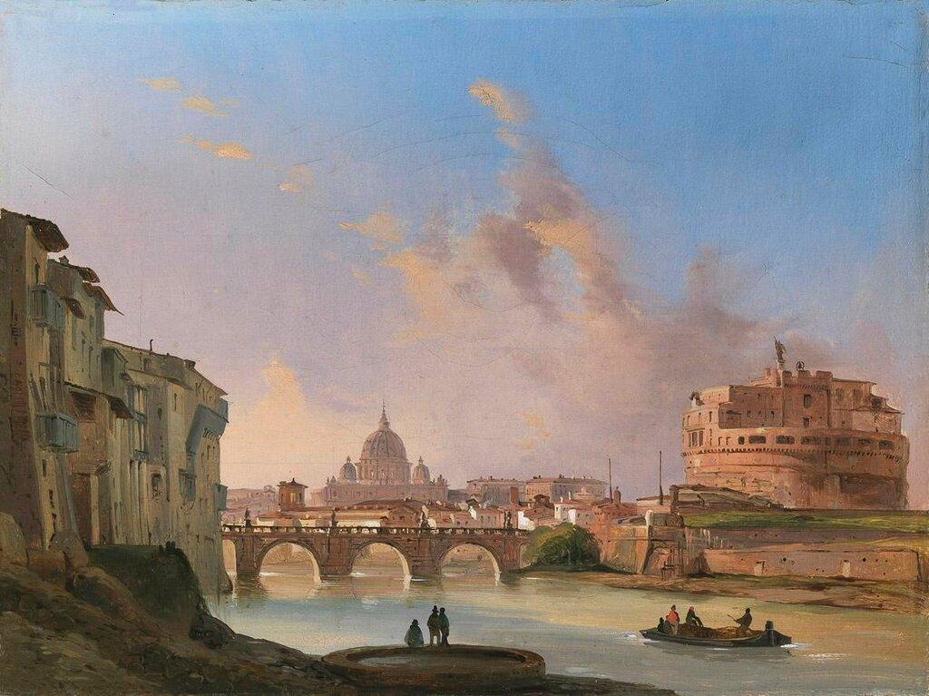 Ippolito-Caffi-Veduta-di-Castel-SantAngelo-con-San-Pietro-sullo-sfondo-Roma-Galleria-Paolo-Antonacc.jpg