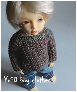 YoSD boy jeans and sweater