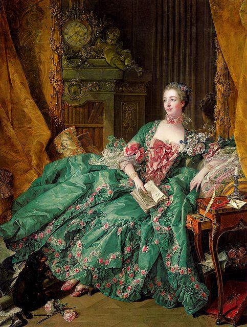 Portrait of Madame de Pompadour (1756) by François Boucher