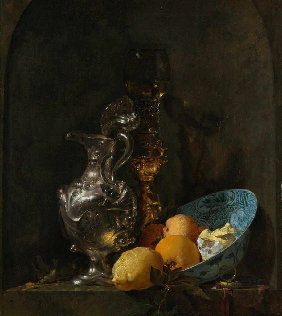 Натюрморт с серебряным кувшином и позолоченным кубком (ок.1655-1657) (Амстердам, Гос.музей)
