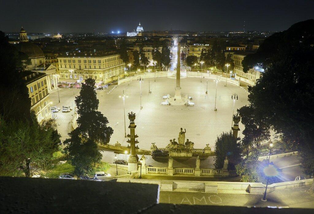 Ночной Рим. Пьяцца-дель-Пополо