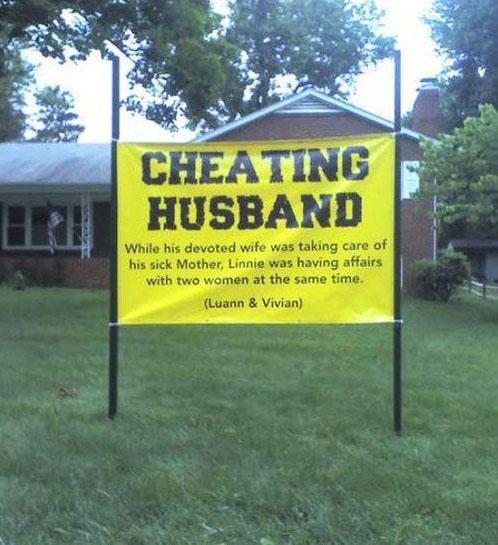 Дом, где живет муж-изменщик.В то время как его верная супруга присматривала за его больной мат