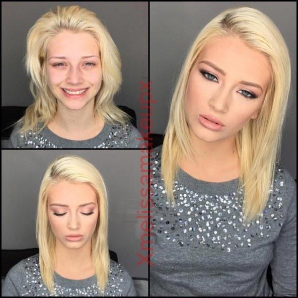 Впечатляющие снимки до и после нанесения макияжа