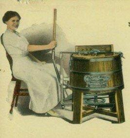 Немного из истории стиральных машин как стирали раньше