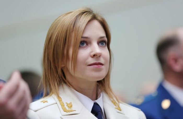 Наталья Поклонская появилась в белом парадном кителе