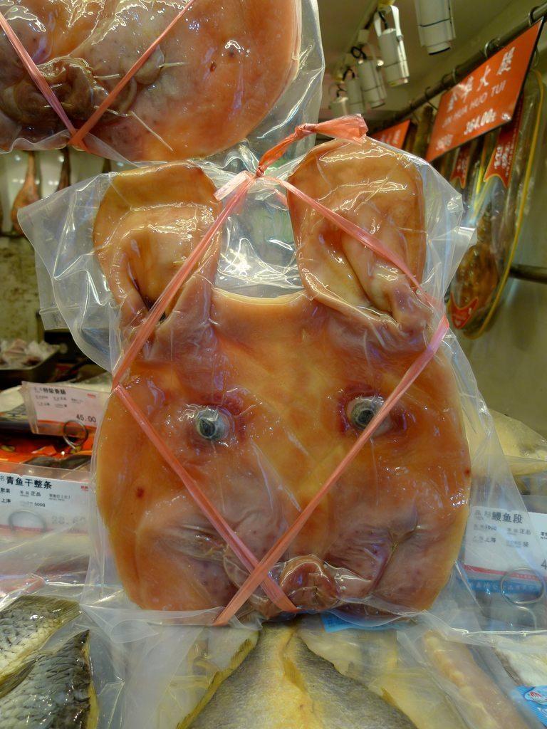 Вяленое мясо в Китае продается довольно оригинально