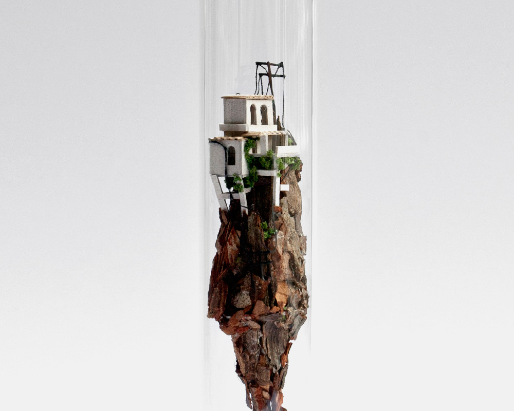 Micro Matter: Vertical Dwellings Inside Glass Test Tubes by Rosa de Jong