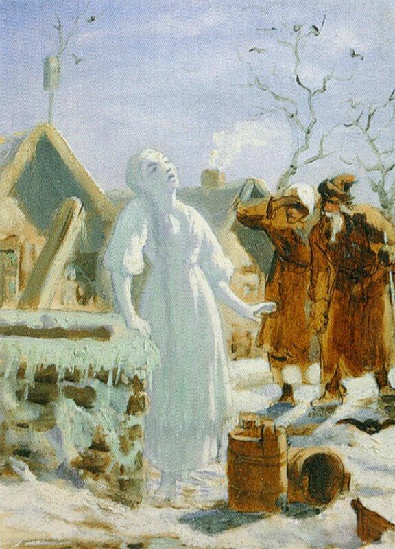 В.Перов. Тающая Снегурочка, эскиз (около 1879 г.)