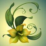 обои векторные цветы
