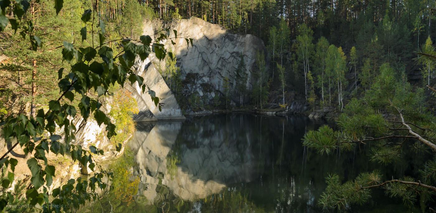 Фотография 8. Озеро Тальков камень в парке Бажовские места. Красивые места в Свердловской области для организации похода выходного дня.