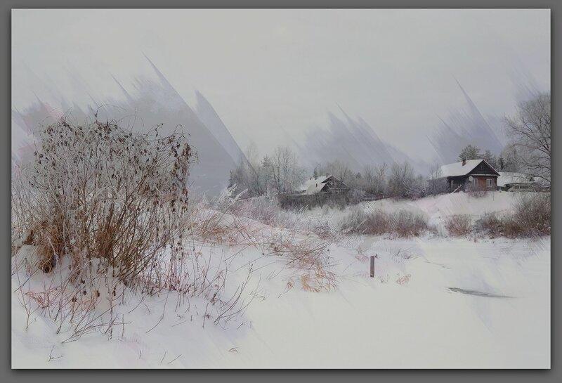 зимние этюды, акварель