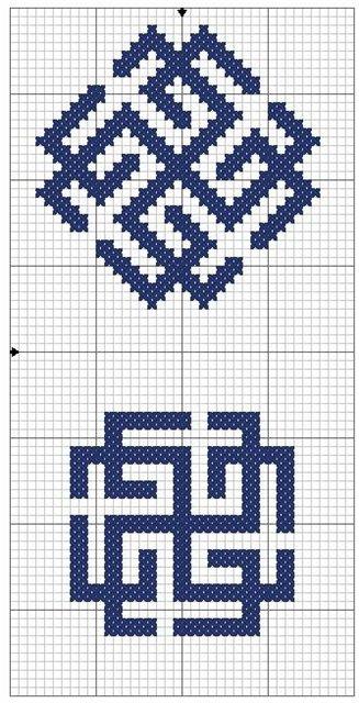 Славянские обереги из бисера схемы
