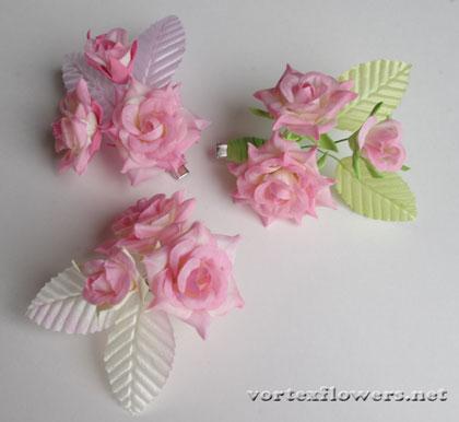 заколки с тремя розами