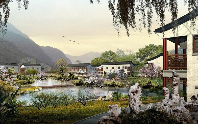 Красивые китайские пейзажи. Фотографии природы Китая, похожей на картины 0 1c4d4d 65c78917 XL