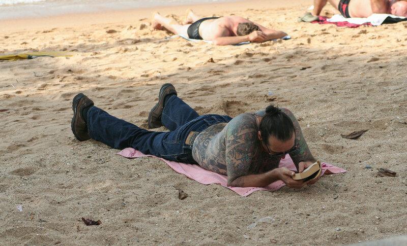 Турист в татуировках