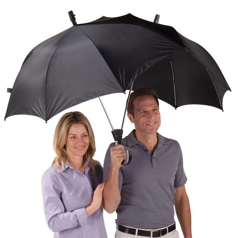 5. Зонт для двоих Двойной зонт для романтических прогулок под дождем. 6. Зонт с очками Зонт с прозра