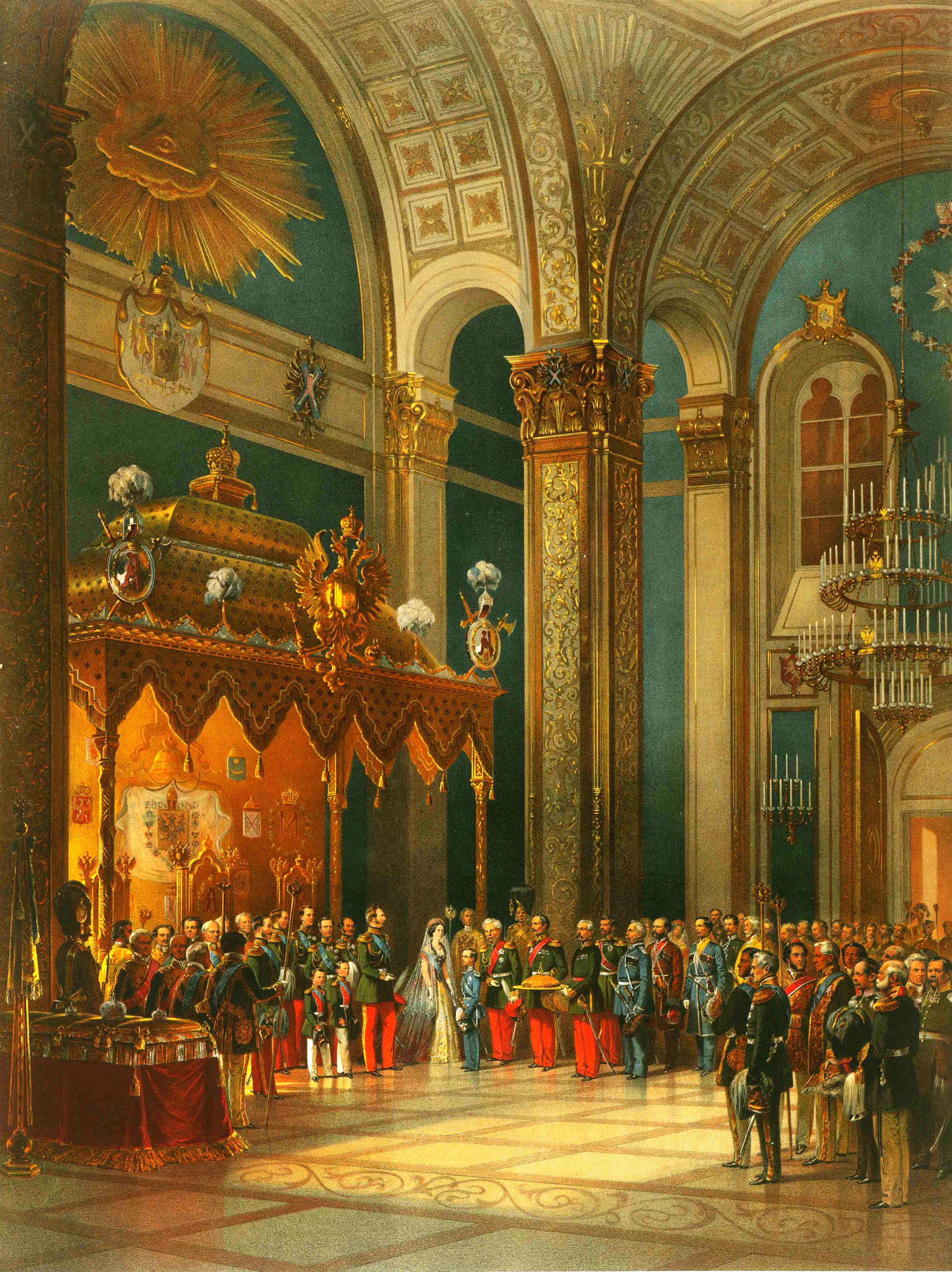 Тимм В. Ф. Поздравление, приносимое казачьим войском в Тронном зале