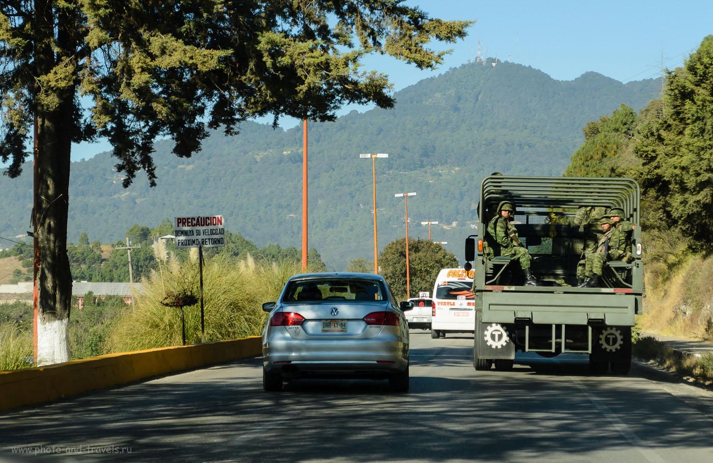 Фото 1. Выезжаем из Сан-Кристобаль-де-Лас-Касас по направлению к Тустла-Гутьеррес. Наша цель - каньон Сумидеро. Отзывы туристов о путешествии по Мексике на машине
