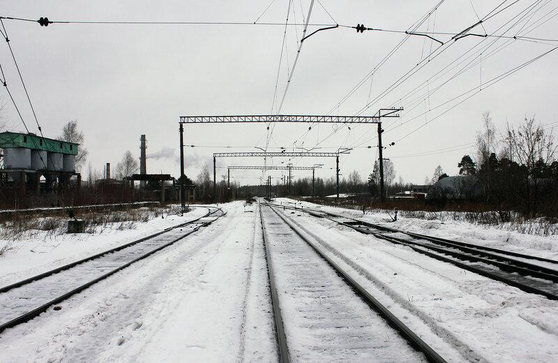Станция Савёлово, вид на Калязин