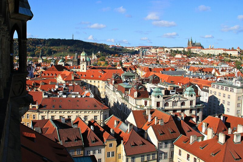 Я вижу Прагу с птичьей высоты