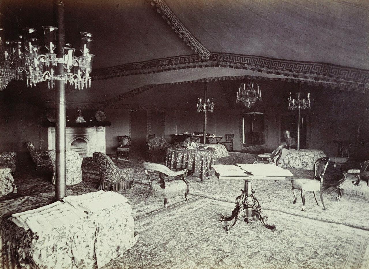 184. Гостиная в палатке Его Королевского Высочества, Агра