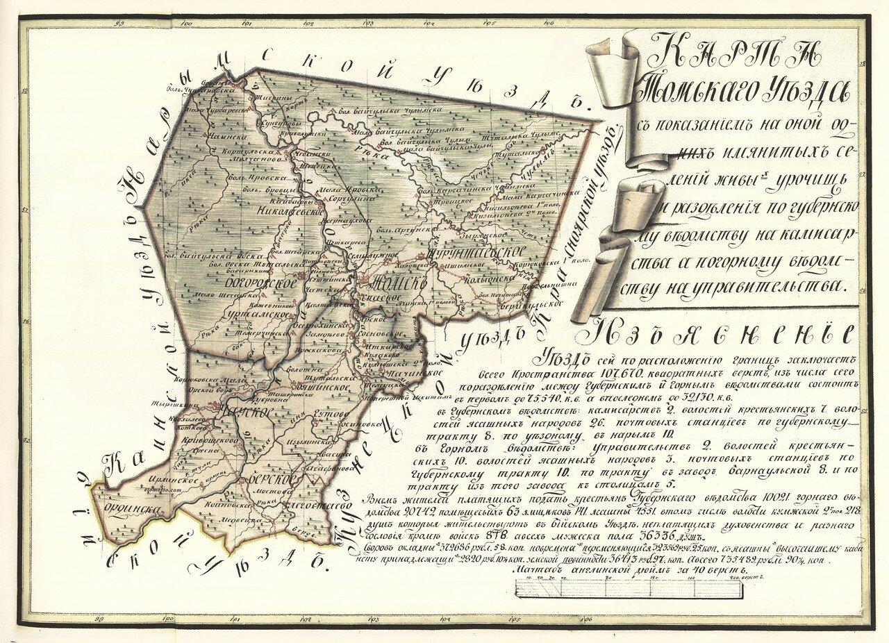 02. Карта Томскаго Уезда
