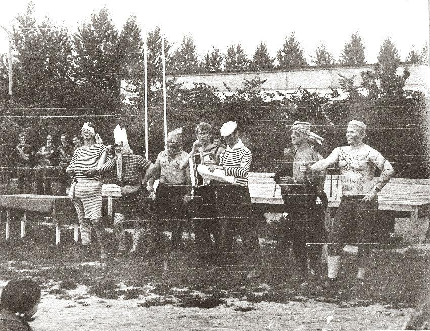 1973. Веселое театрализованное открытие отряда ЭТФ Москва