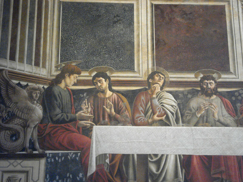 003-Тайная вечеря (Андреа дель Кастаньо, левая часть).jpg