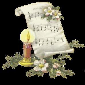 ноты при свечке