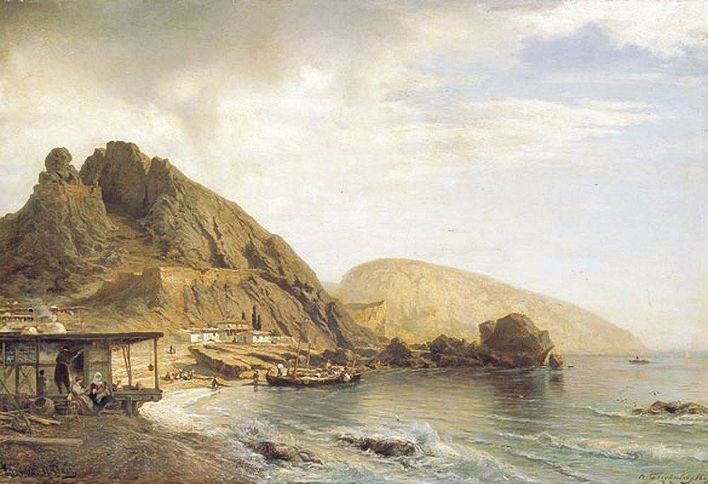 Гурзуф и Аю-Даг. 1867.jpg
