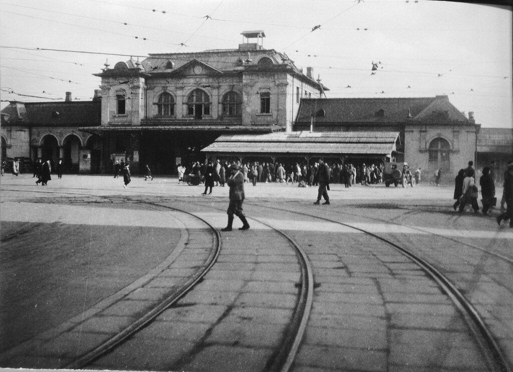 Hakata Railroad Station, Fukuoka Japan Jan 2, 1946
