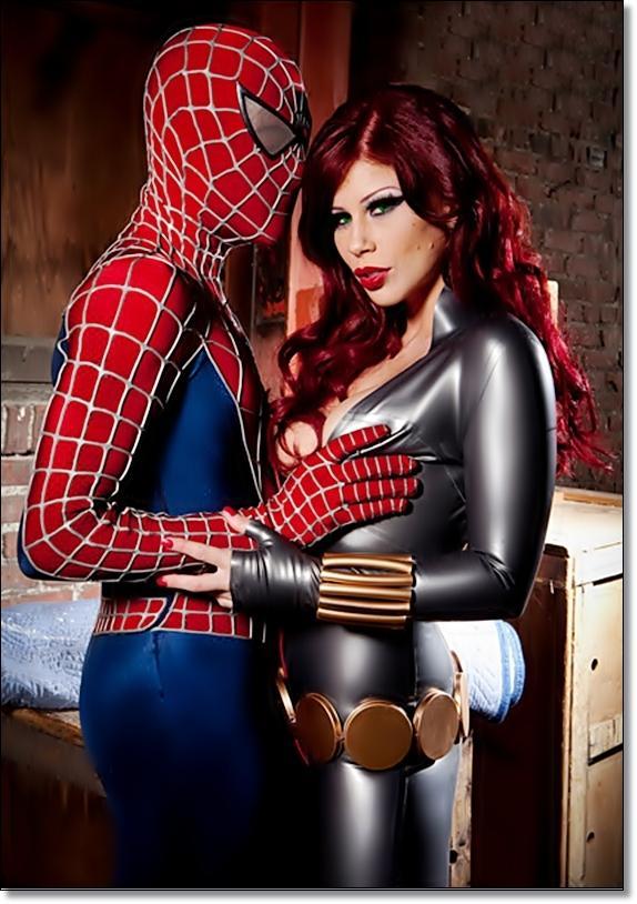 Человек паук пародия порно 21 фотография