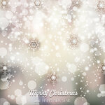 Magic Background With Snowflakes