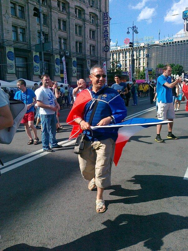 Болельщик французской сборной Евро 2012 на Крещатике