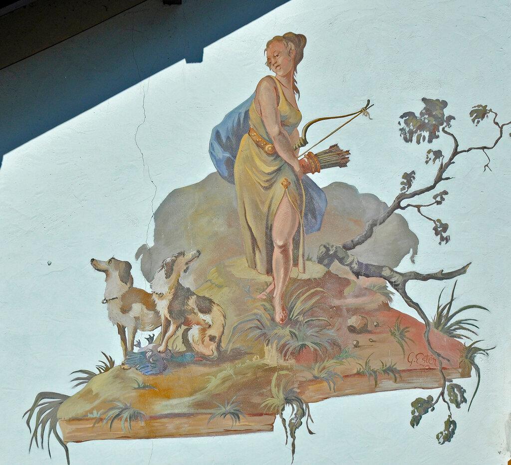 Обераммергау. Картина на стене дома.