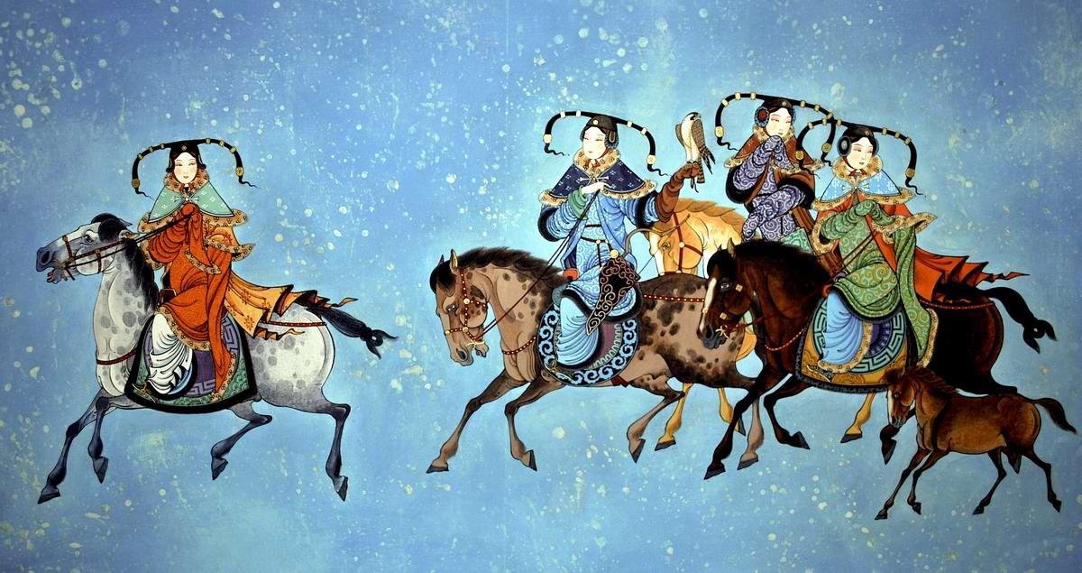 Девушки из монгольских степей