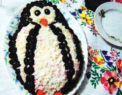 Новогодний салат «Пингвин»