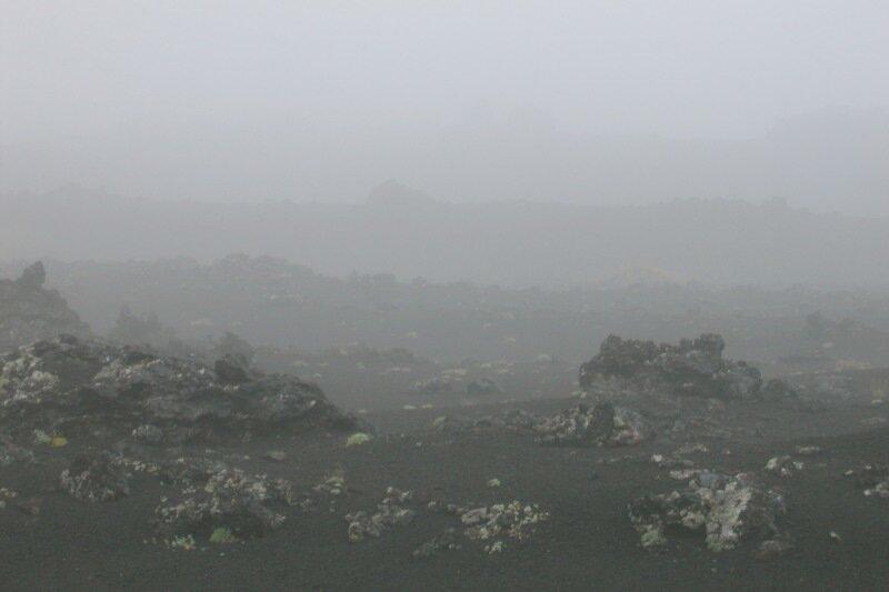 Камчатка, Толбачик, База луноходчиков, туман