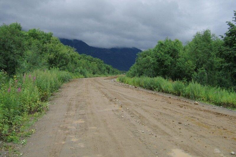 Дорога вдоль Паратунка-реки