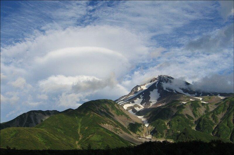 Облако-НЛО, Вилючинский вулкан, Камчатка