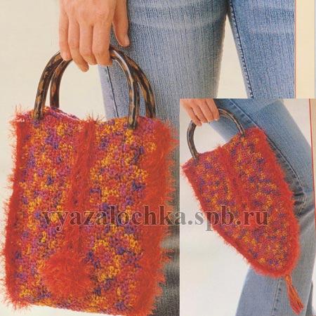 вязаная сумка схема вязания