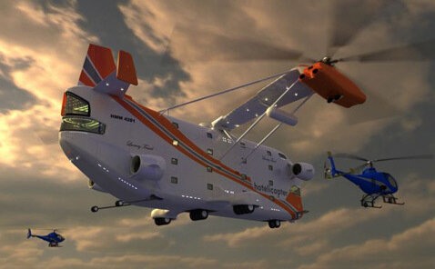 Первый в мире летающий отель: Hotelicopter (Вертолет-отель)