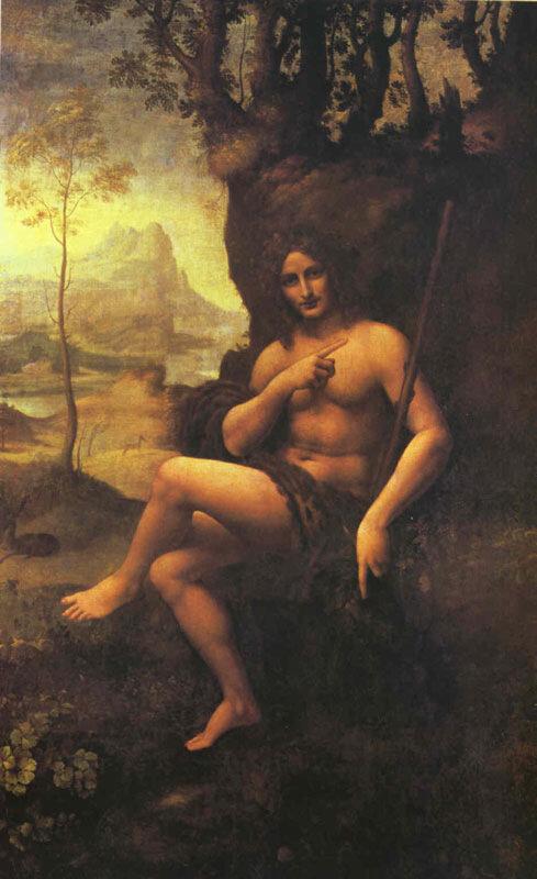 Леонардо да Винчи, 1510-15 гг.Париж, Лувр, Вакх
