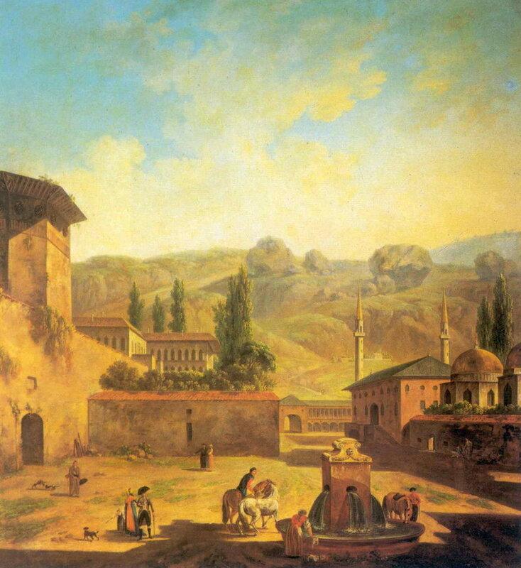 Вид города Бахчисарай