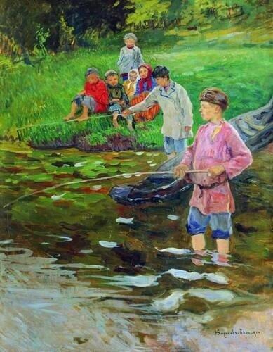 Богданов-Бельский, Дети-рыбаки